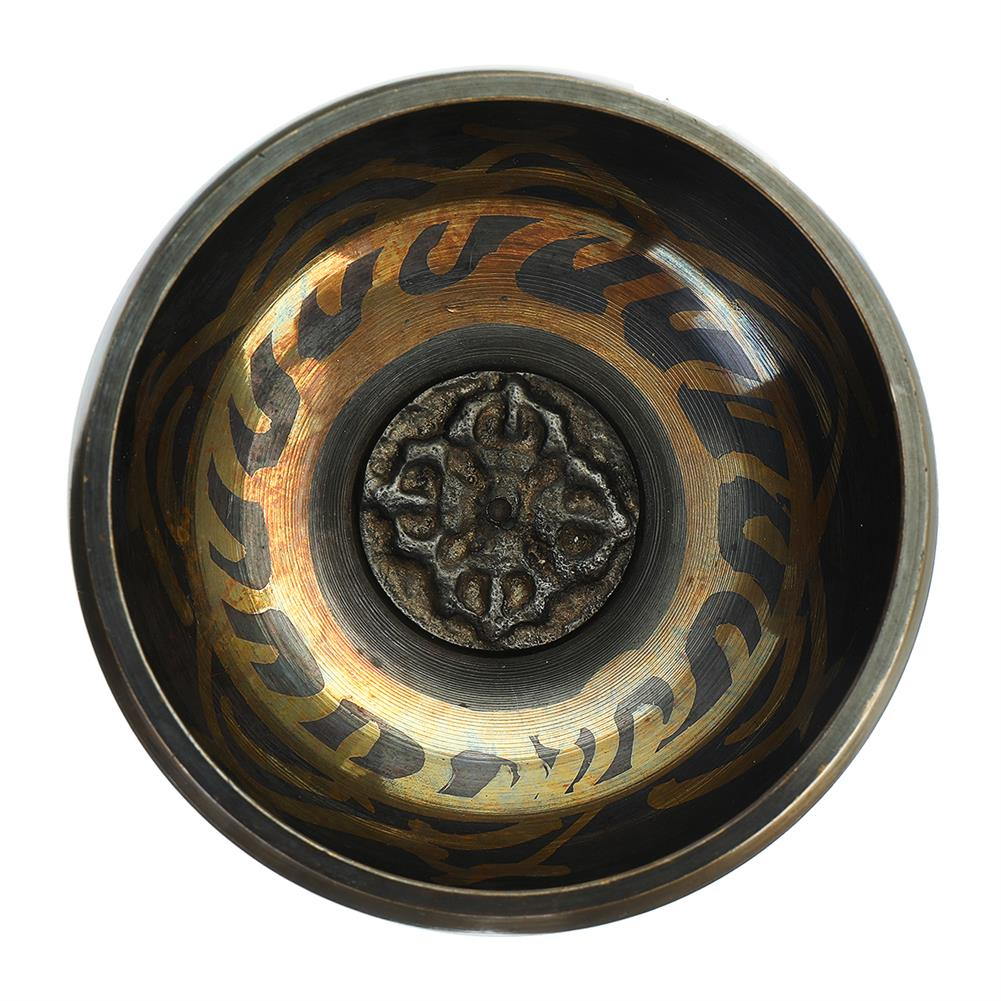 folk-world-percussion Handmade Tibetan Singing Bowl Meditation Buddhist Chanting Yoga Mallet Mat Set HOB1791173 2