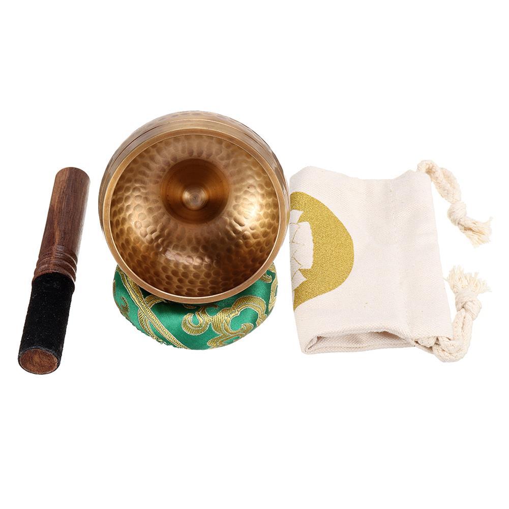 folk-world-percussion lingam Lin Pattern Singing Bowl Pure Copper Buddhas Sound Bowl HOB1791179