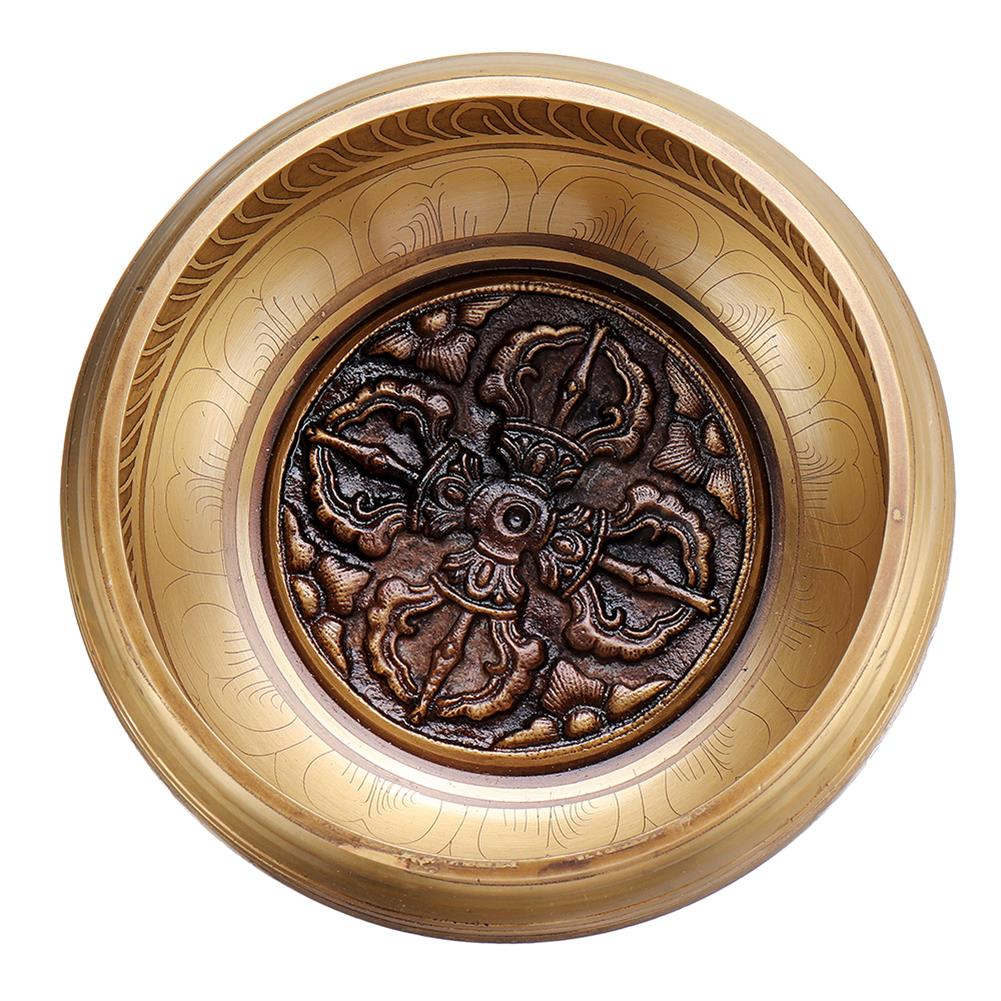 folk-world-percussion Handmade Tibetan Singing Bowl Meditation Buddhist Chanting Yoga Mallet Mat Set HOB1791183