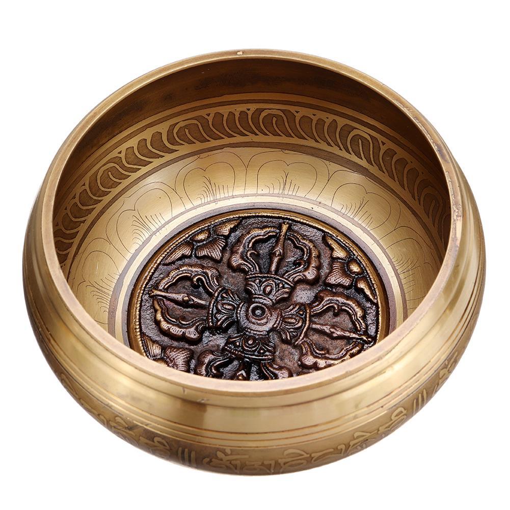 folk-world-percussion Handmade Tibetan Singing Bowl Meditation Buddhist Chanting Yoga Mallet Mat Set HOB1791183 1