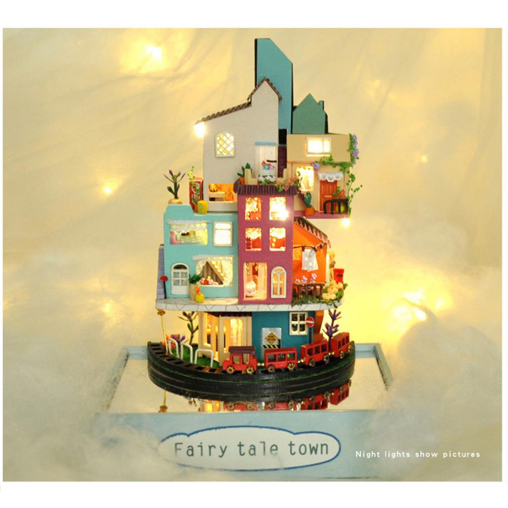 doll-house-miniature TIANYU TC2 Cloud Town DIY House Cloud House Candy Color Town Art House Creative Gift with Dust Cover HOB1792730