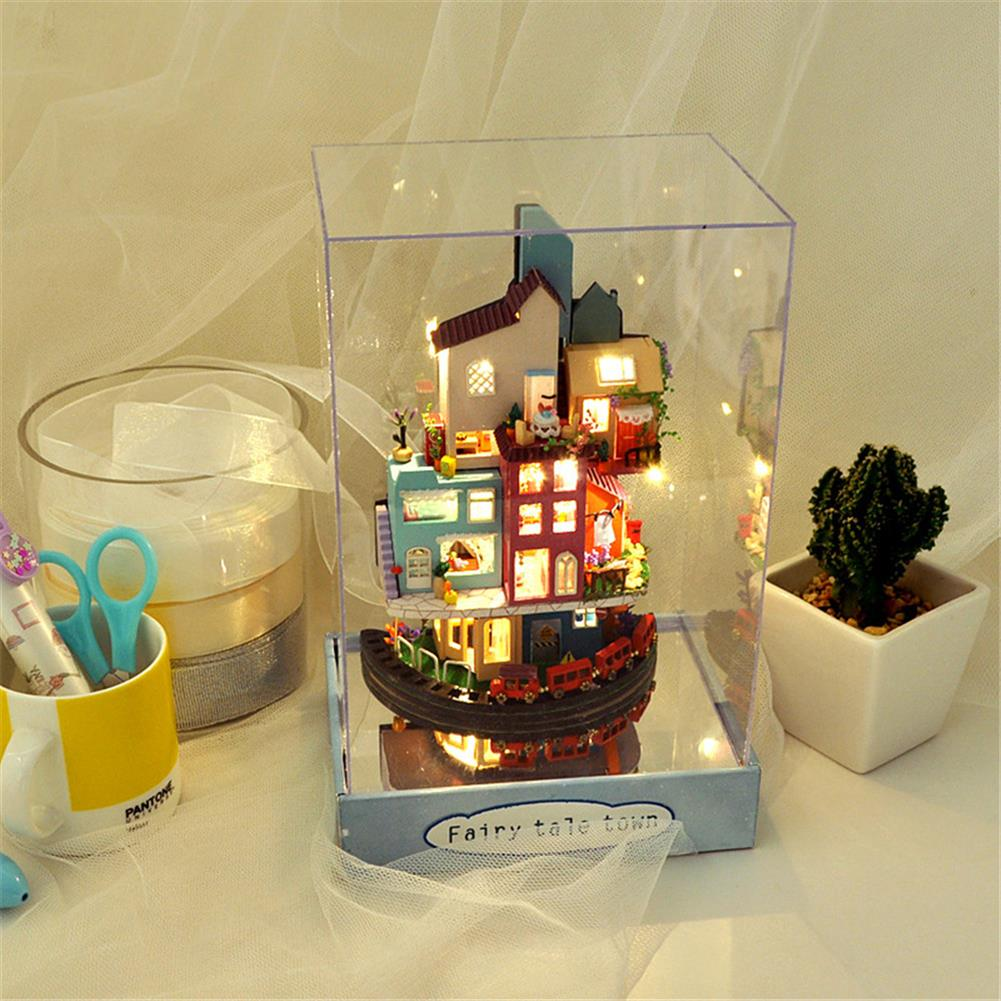 doll-house-miniature TIANYU TC2 Cloud Town DIY House Cloud House Candy Color Town Art House Creative Gift with Dust Cover HOB1792730 1