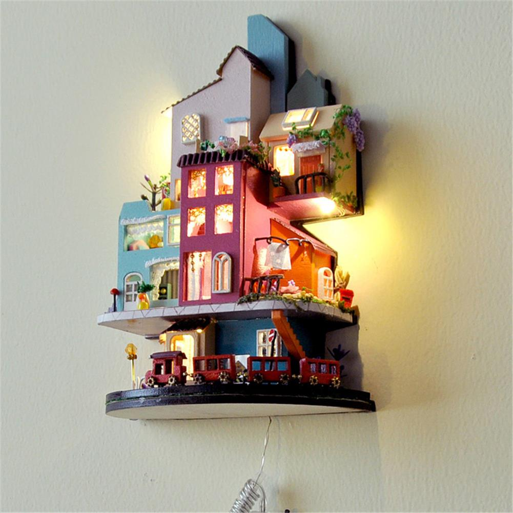 doll-house-miniature TIANYU TC2 Cloud Town DIY House Cloud House Candy Color Town Art House Creative Gift with Dust Cover HOB1792730 3