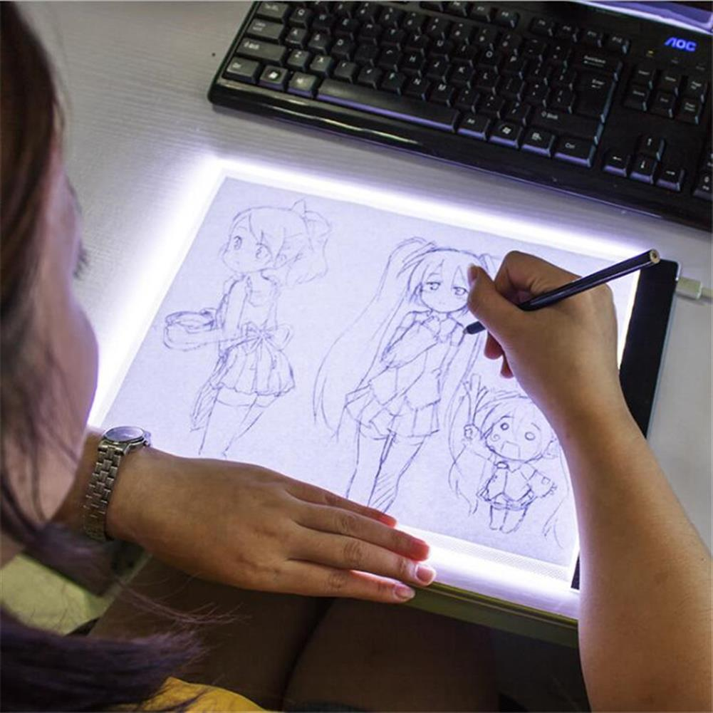 play-mats A4 A5 USB Dimmable Led Drawing Copy Pad Tablet Diamond Painting Board Art Copy Pad Writing Sketching Tracing LED Light Pad HOB1793706