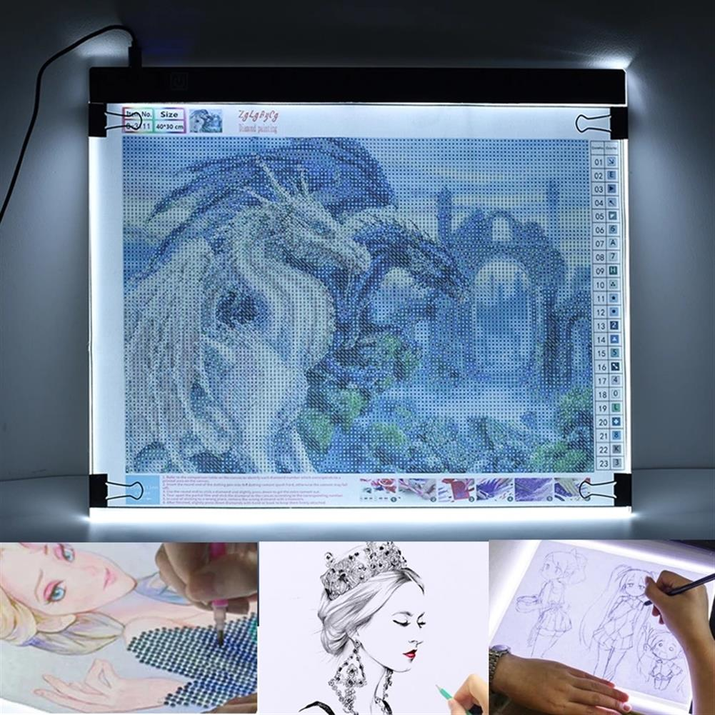play-mats A4 A5 USB Dimmable Led Drawing Copy Pad Tablet Diamond Painting Board Art Copy Pad Writing Sketching Tracing LED Light Pad HOB1793706 1