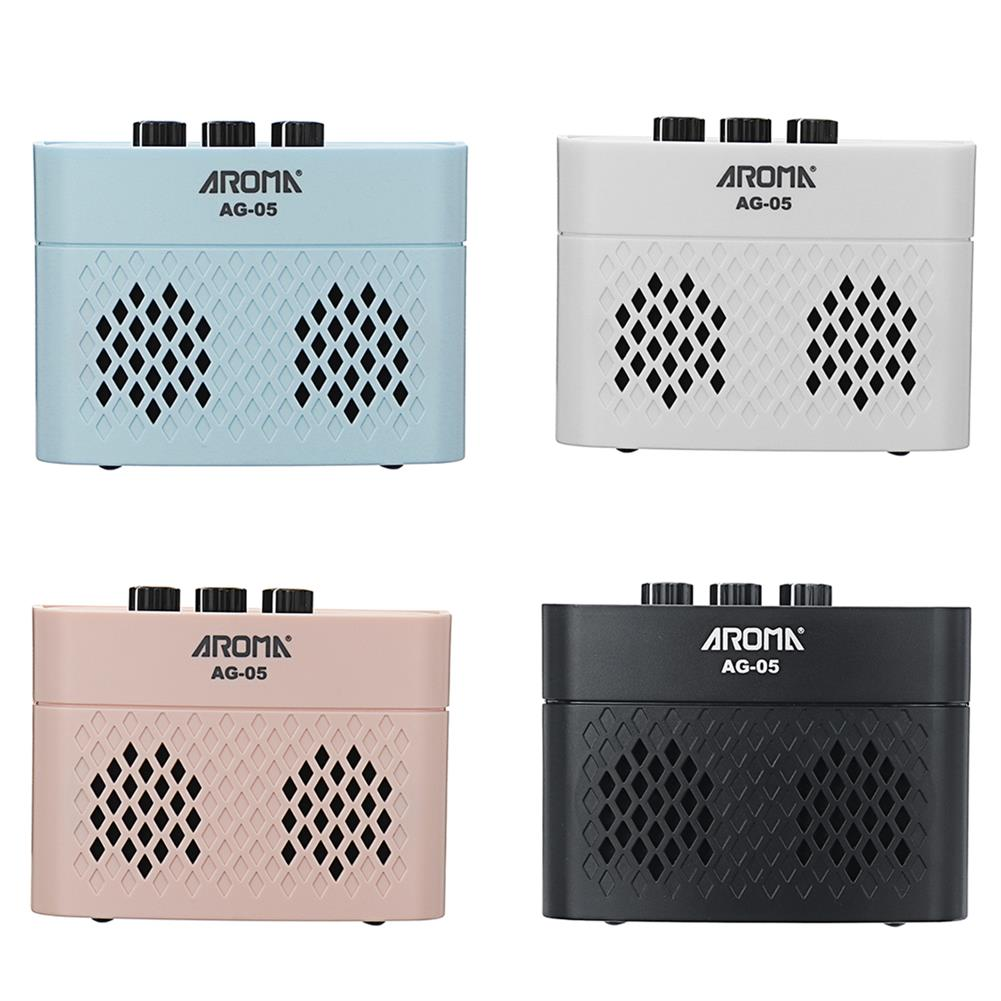 speakers-subwoofers AROMA AG-05 Bluetooth Electric Guitar Amp Amplifier 5-Watt Stereo Output Distortion Gain Tone Control 3.5mm Monitoring 6.35mm HOB1794176