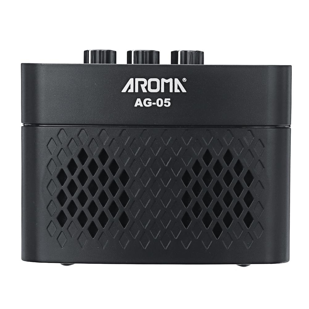 speakers-subwoofers AROMA AG-05 Bluetooth Electric Guitar Amp Amplifier 5-Watt Stereo Output Distortion Gain Tone Control 3.5mm Monitoring 6.35mm HOB1794176 1