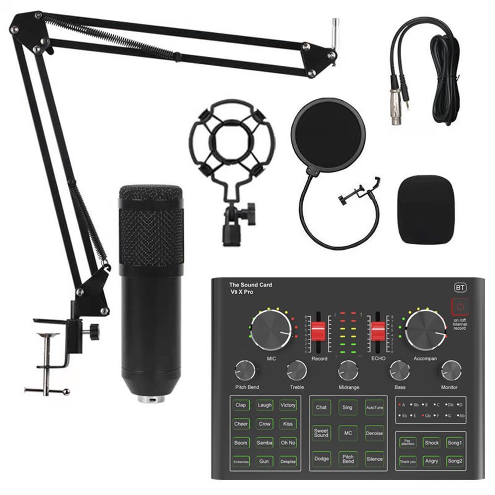 microphones-karaoke-equipment BM800 Condenser Microphone Sound Card V9X PRO Mixer Live Broadcast Recording Set Mic Phone K Song Computer Karaoke Sing HOB1794836 3