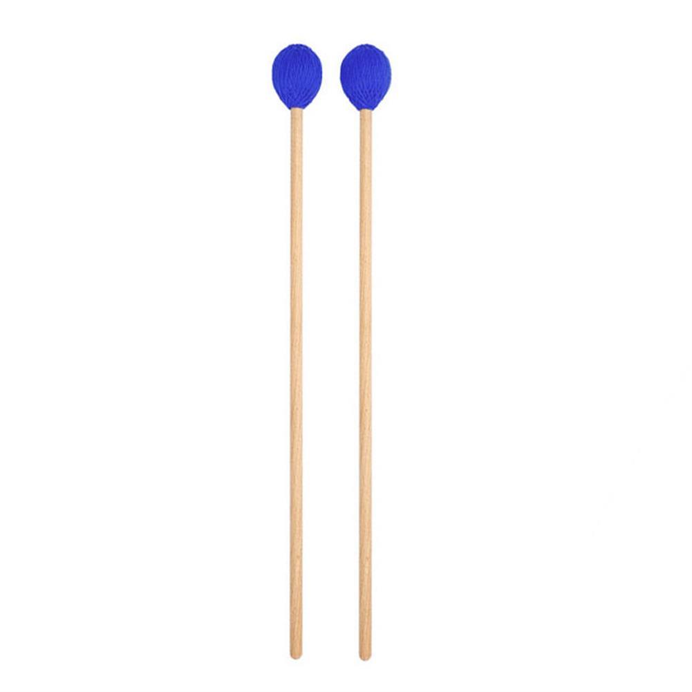 folk-world-percussion Yarn Head Medium Hard with Maple Handle Medium Keyboard Marimba Mallets HOB1797415 1