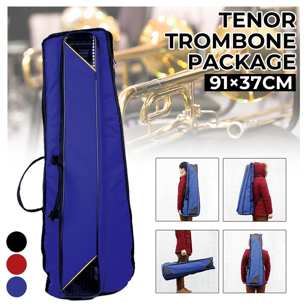 woodwind-brass-accessories Portable Oxford Cloth 10or Trombone Backpack Add Sponge instrument Shoulder Bag Waterproof Blue / Red / Black HOB1797429
