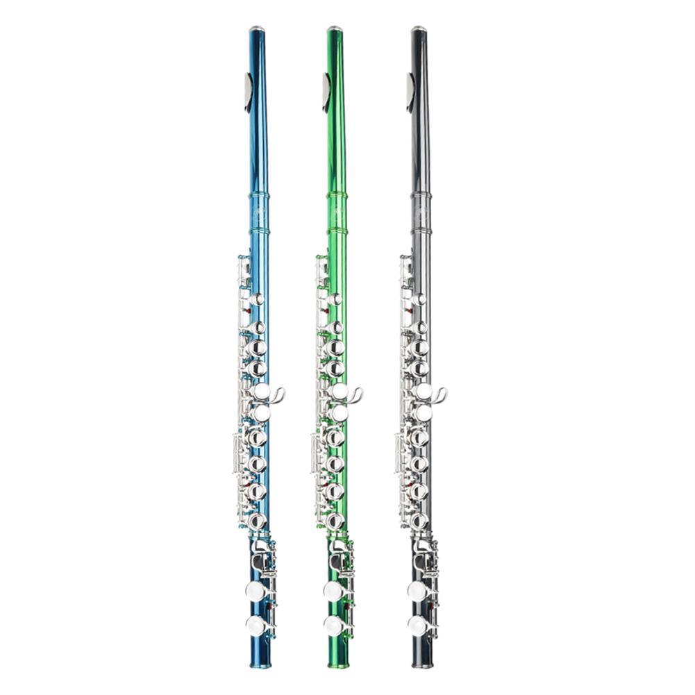 flute MY 16 Holes C Key Flute Copper with Cloth Screwdriver Gloves Bag HOB1797433