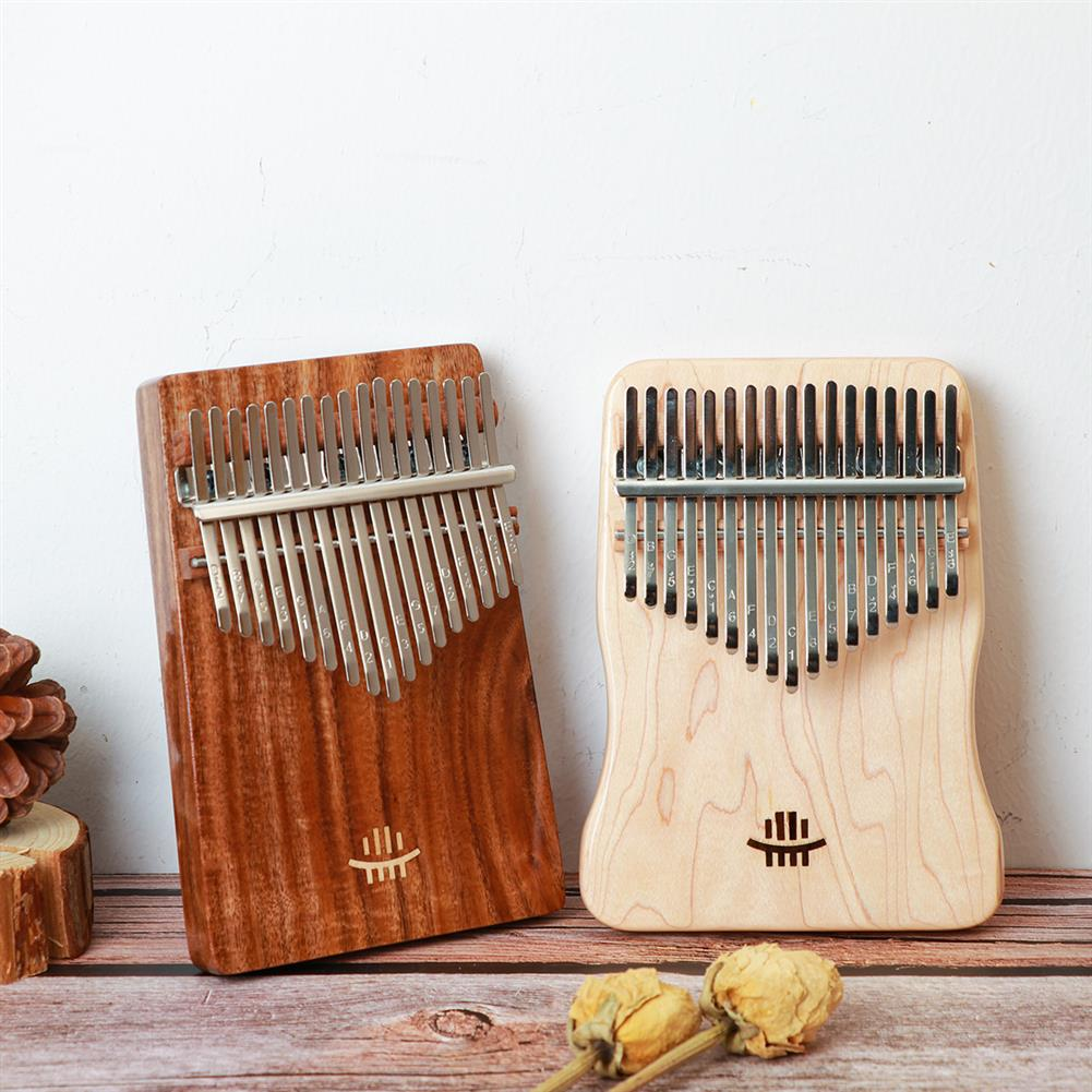 kalimba HLURU 17 Key Kalimba Finger instrument Thumb Piano Song Book Stickers Kalimba Kit +Bag HOB1797446