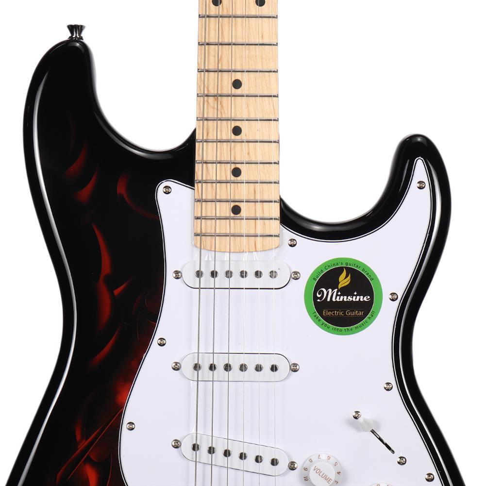 electric-guitars Minsine Electric Guitar Retro Single Coil Tone Triple Single Pickup for Beginner HOB1797988 1