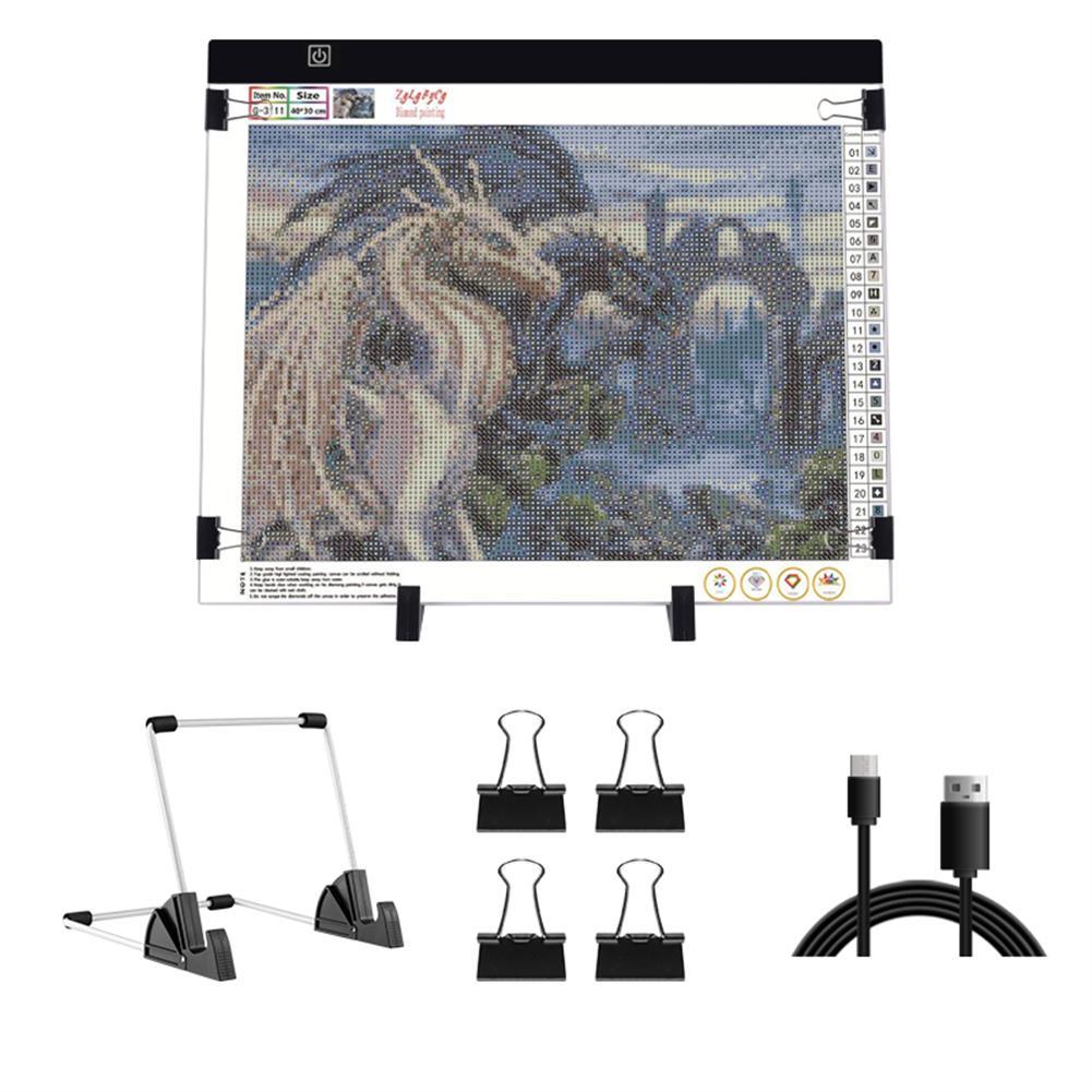play-mats A3 USB LED Light Drawing Pad Artcraft Tracing Light Box Copy Board Digital Tablet Painting Writing Drawing Tablet Diamond Painting Board HOB1798009
