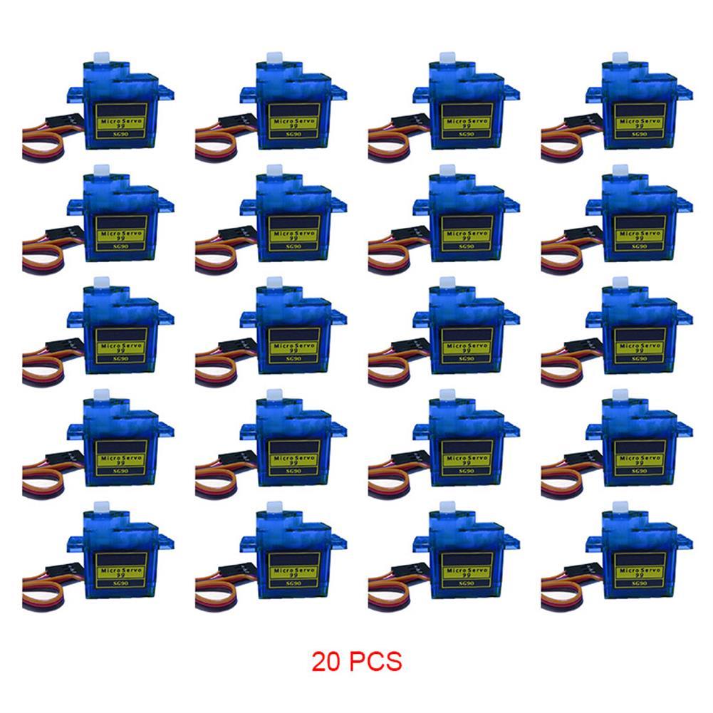 rc-airplane-parts 20PCS NHYTech SG90 9g 4.8-6V Mini Analog Servo Smart Horn for RC Fixed Wing Airplane Model Robot Parts Motor DIY Models HOB1798174