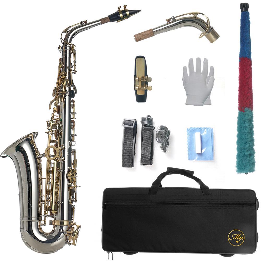 saxophone MY Eb E-flat Alto Saxophone High Quality Silver Nickel Plating Brass Abalone Shell Keys HOB1798649