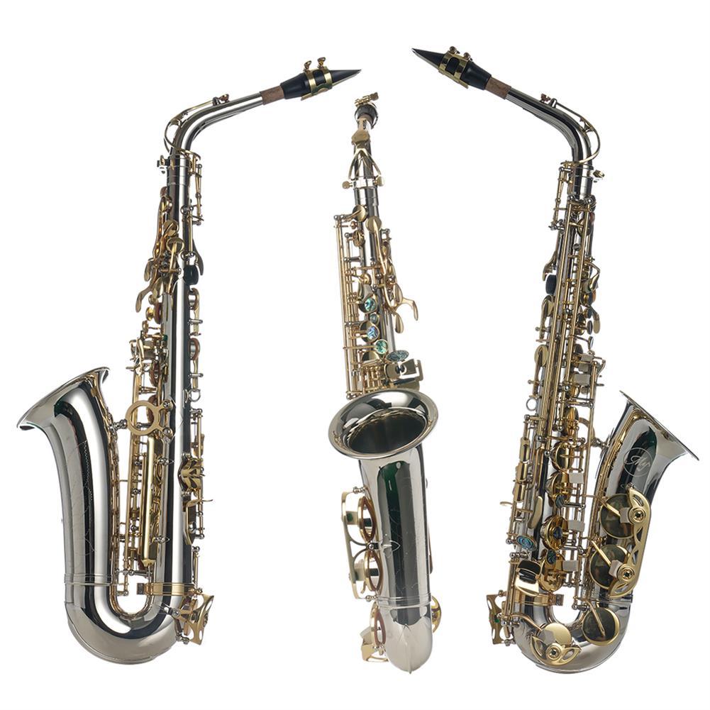 saxophone MY Eb E-flat Alto Saxophone High Quality Silver Nickel Plating Brass Abalone Shell Keys HOB1798649 1