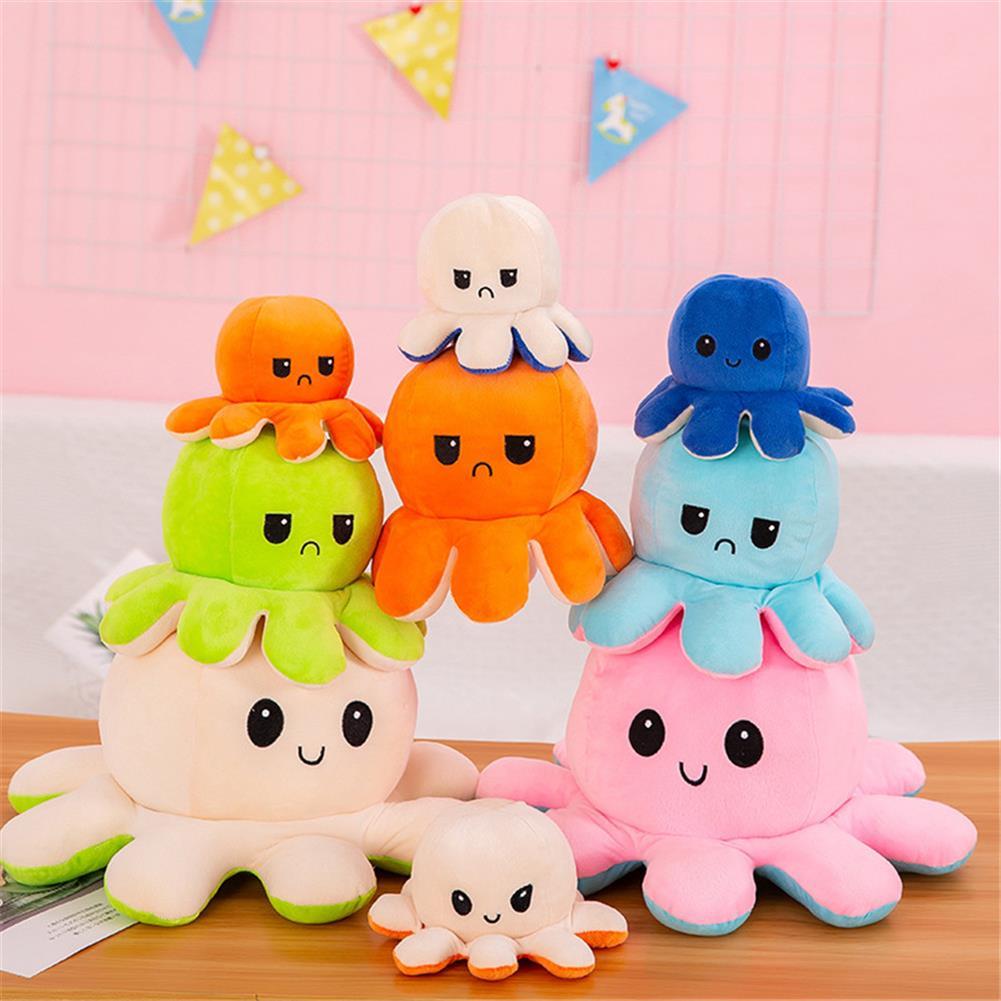 stuffed-plush-toys Flip Octopus Doll Flip Octopus Octopus Plush Toy Double-sided Flip Doll Reversible Octopus Toys HOB1798845