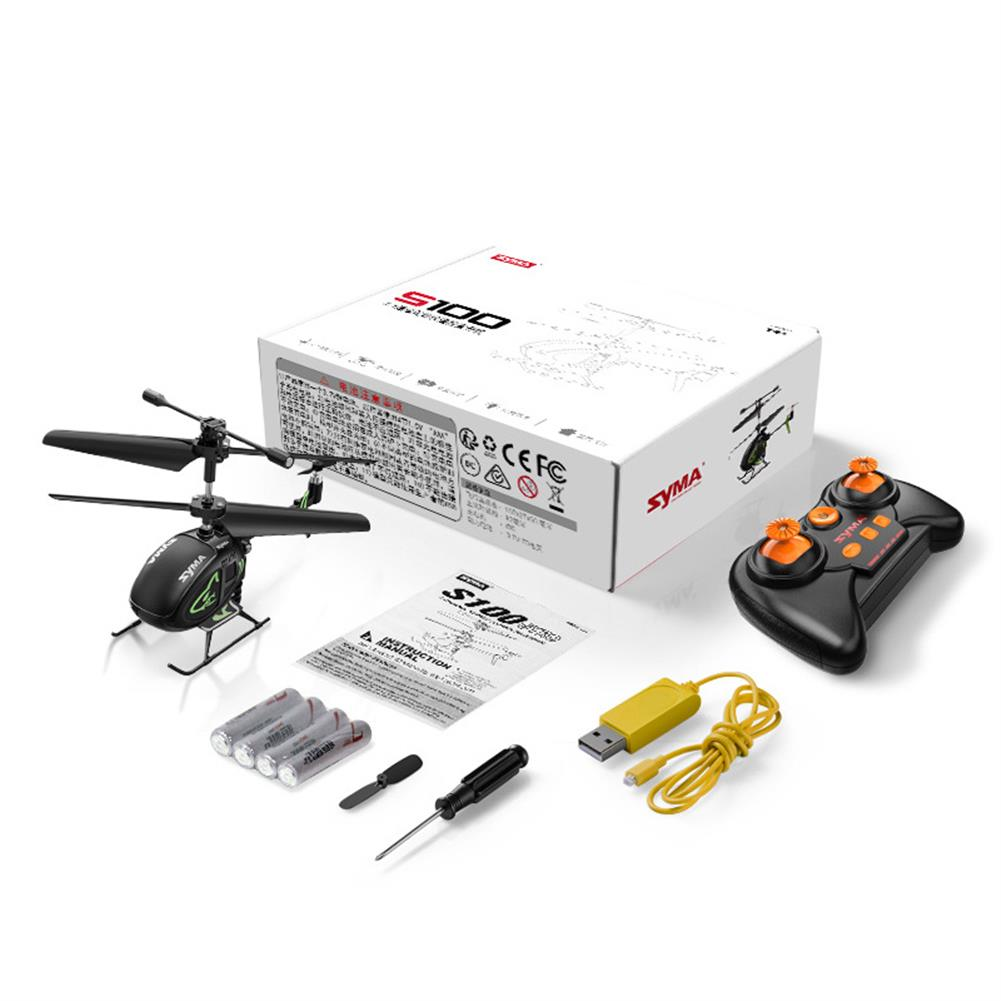 rc-helicopter SYMA S100 3CH 2.4Ghz Remote Control intelligent Fixed Height Mini Helicopter Children's Toys HOB1799134 3