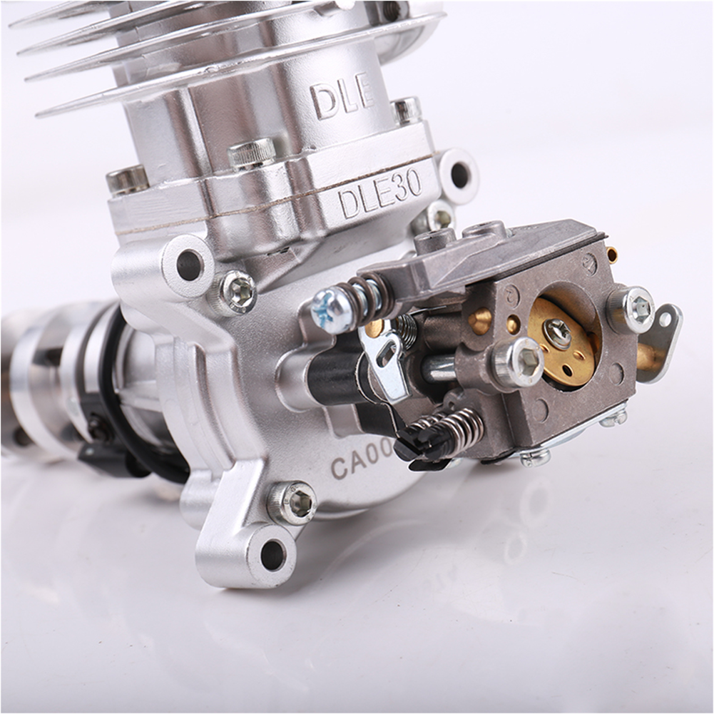 rc-airplane-parts DLE Gasoline Engine DLE30 30CC Single Cylinder 2-Stroke Side Exhaust Air-cooled Hand Start with Ignition and Exhaust Pipe for RC Airplane HOB1799660 1
