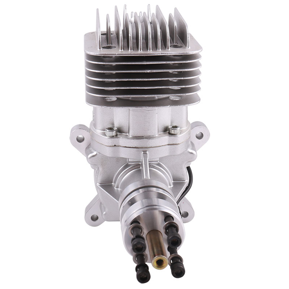 rc-airplane-parts DLE Gasoline Engine DLE55RA 55CC Single Cylinder 2-Stroke Rear Exhaust Air-cooled Hand Start with Ignition and Exhaust Pipe for RC Airplane HOB1799671 2