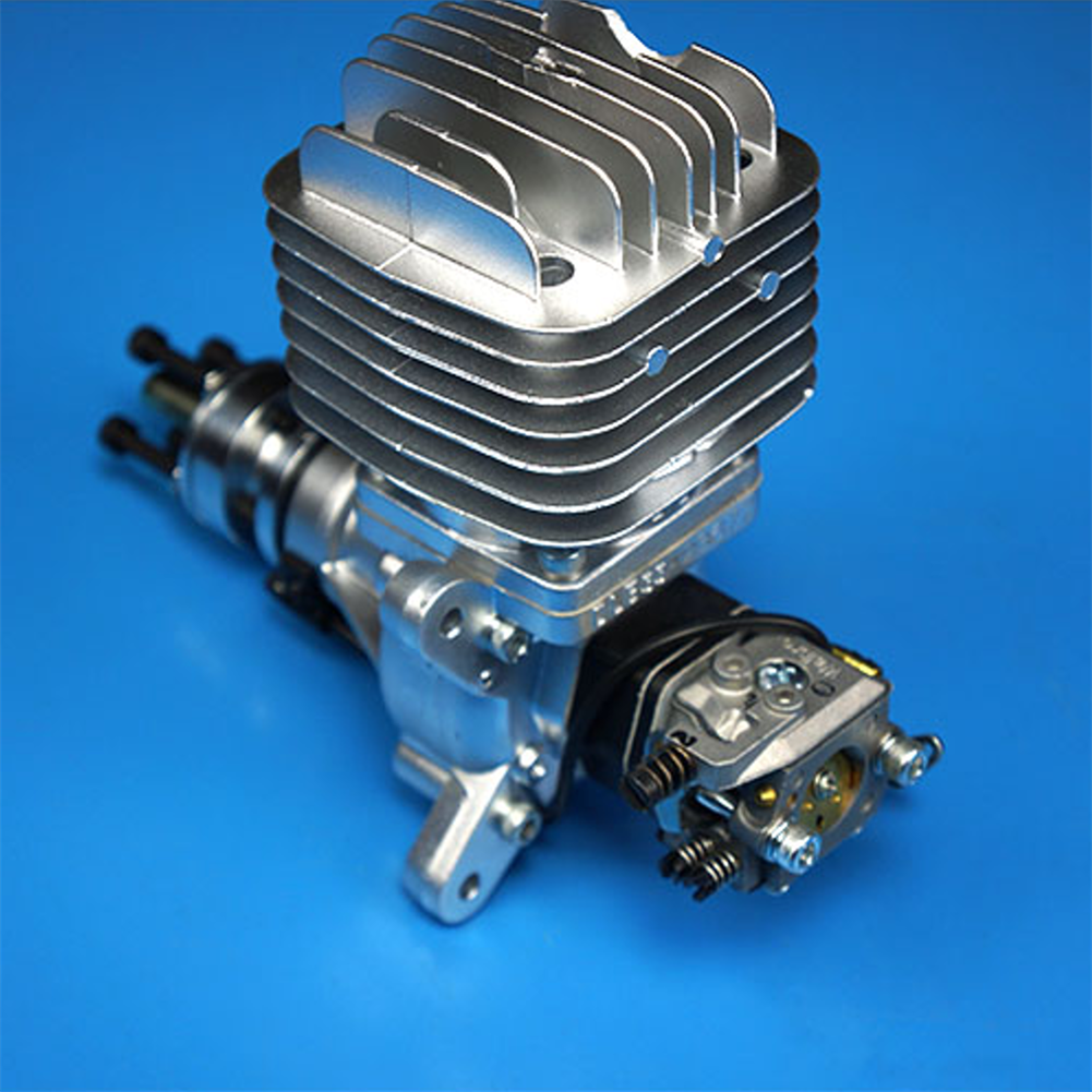 rc-airplane-parts DLE Gasoline Engine DLE55 55CC Single Cylinder 2-Stroke Side Exhaust Air-cooled Hand Start with Ignition and Exhaust Pipe for RC Airplane HOB1799675 1