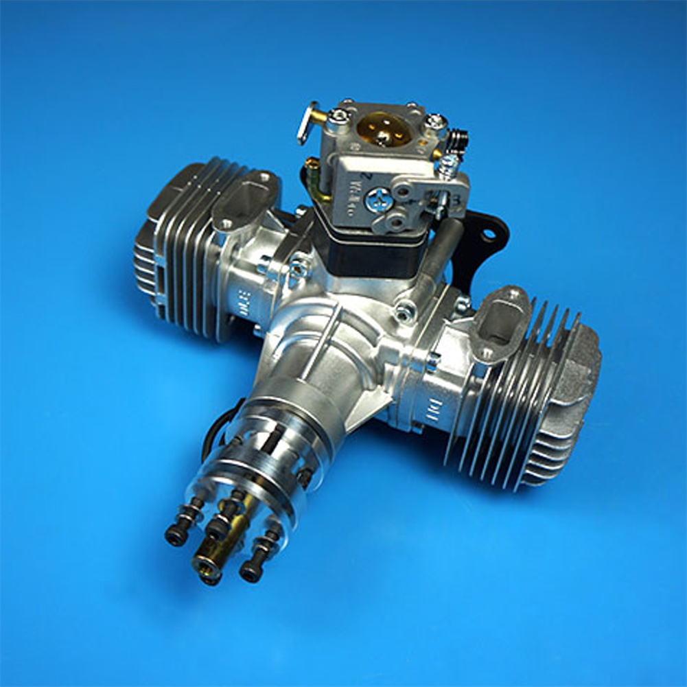 rc-airplane-parts DLE Gasoline Engine DLE40 40CC Single Cylinder 2-Stroke Side Exhaust Air-cooled Hand Start with Ignition and Exhaust Pipe for RC Airplane HOB1799678 2