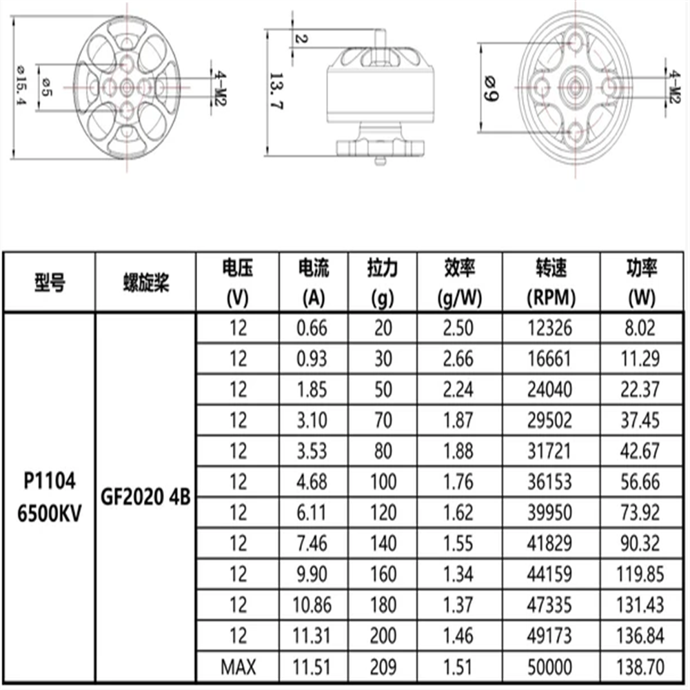 multi-rotor-parts HOMFPV 1104 6500KV 3S Brushless Motor for Micron Whoop RC Drone FPV Racing HOB1799771 2