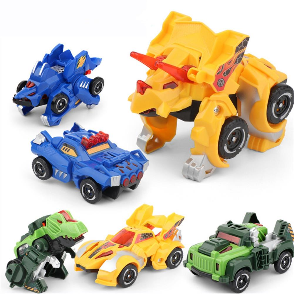 robot-toys Children's Vehicle Model Toy inertia Dinosaur Deformation Car Robot Car Early Education Puzzle Toy for Boys Kids HOB1799878