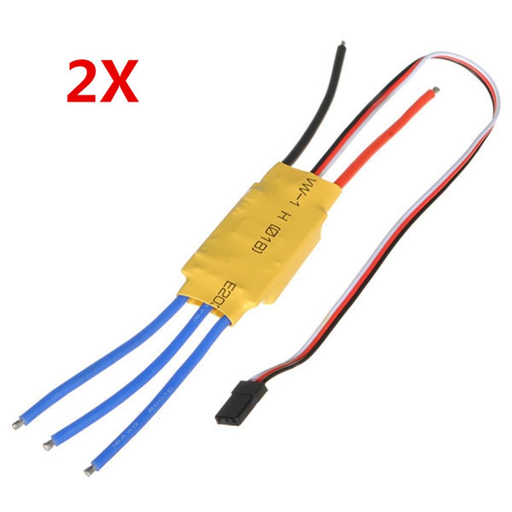rc-airplane-parts 2PCS XXD HW30A 30A Brushless Motor ESC for Airplane Quadcopter HOB1800245