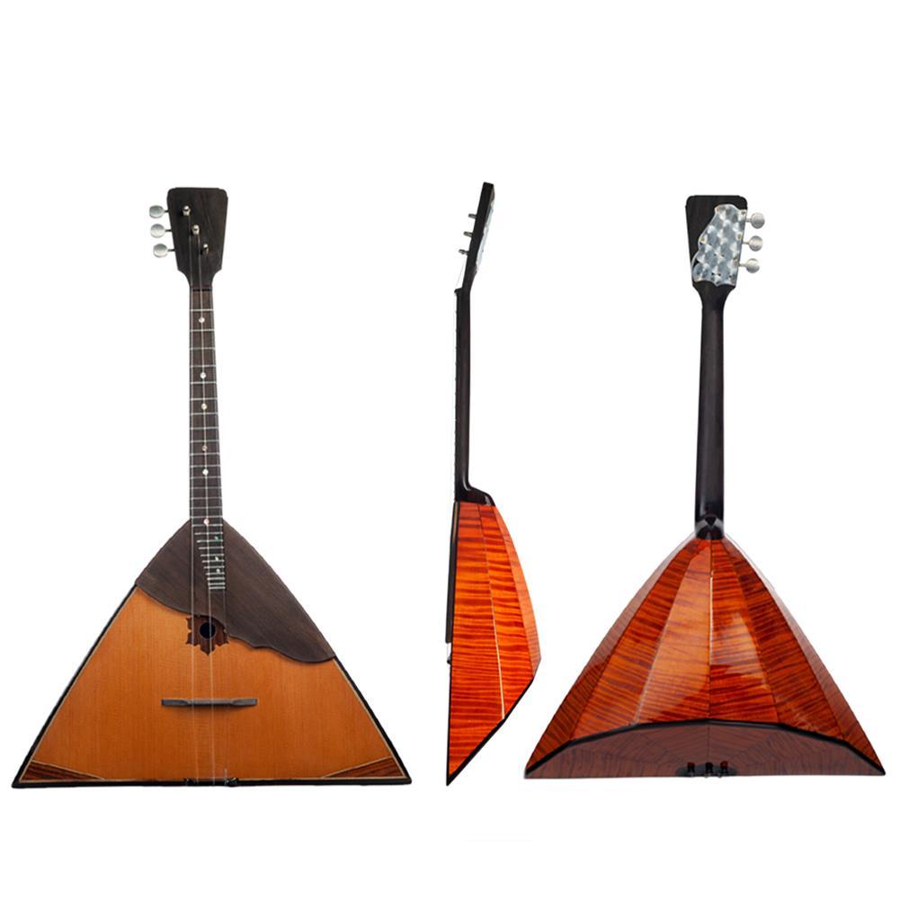 folk-world-strings NAOMI Balalaika Spruce Russian Music instrument Triangular Shape 3 Strings Music instrument Bala Laika HOB1801242 1