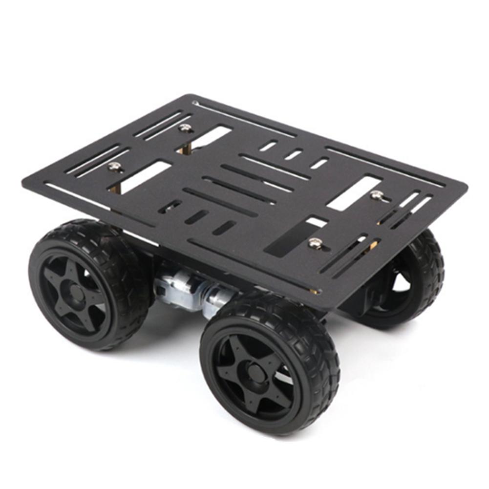 smart-robot-car Hiwonder Aluminum Alloy 4-wheel Smart Car Chassis Motor Reduction Ratio 1:120 for Competition HOB1803159