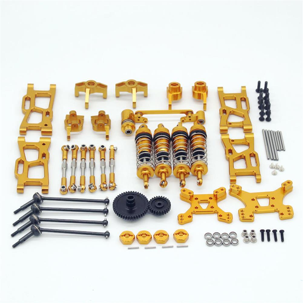 rc-car-parts Wltoys 1/14 144001 124019 Upgrade Metal Upgrade Parts with Shock Adapter Set RC Car Parts HOB1803778 1