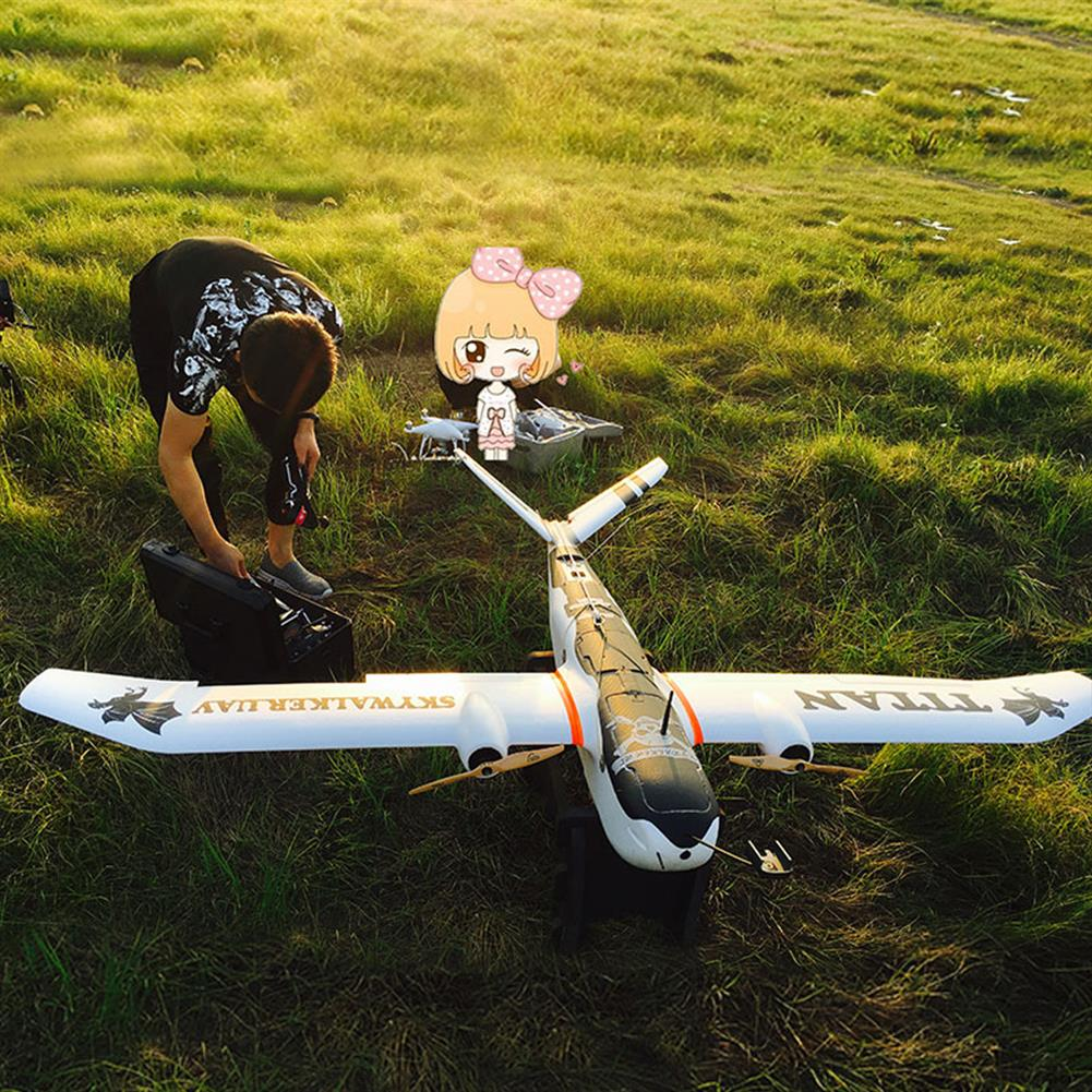 rc-airplane Skywalker Titan 2160mm Wingspan V-Tail Twin-Motor EPO Aerial Survey Aircaft RC Airplane KIT HOB1803879
