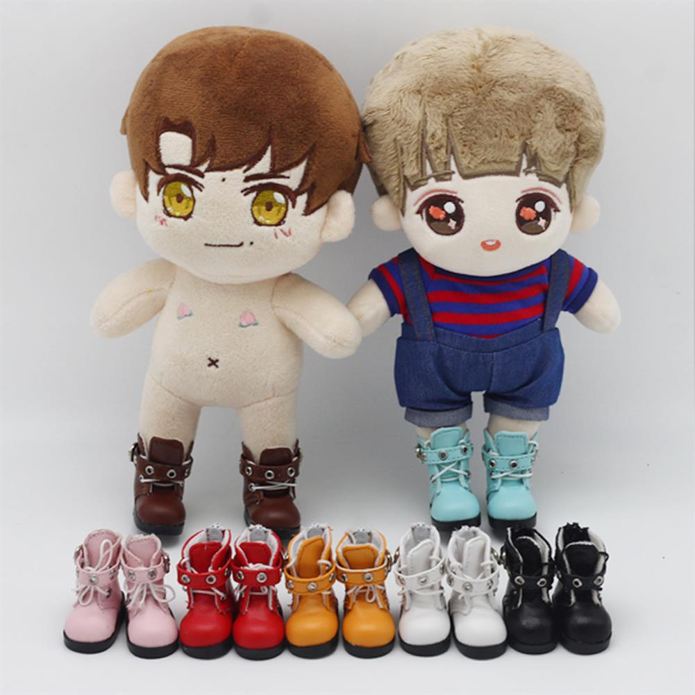 dolls-action-figure Multi-color 6 Points Bjd Cotton Doll Leather Casual Sports Shoes Doll Toy for 15CM Baby Doll HOB1804044