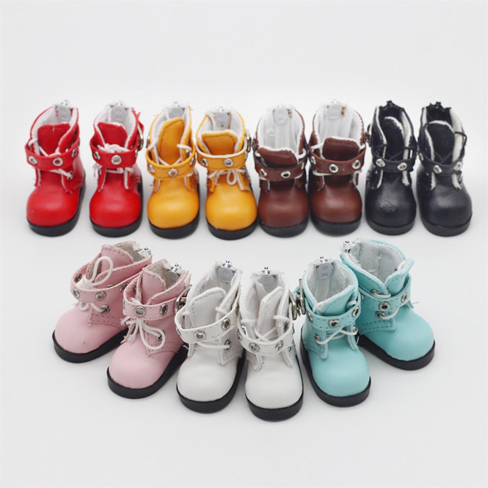 dolls-action-figure Multi-color 6 Points Bjd Cotton Doll Leather Casual Sports Shoes Doll Toy for 15CM Baby Doll HOB1804044 1