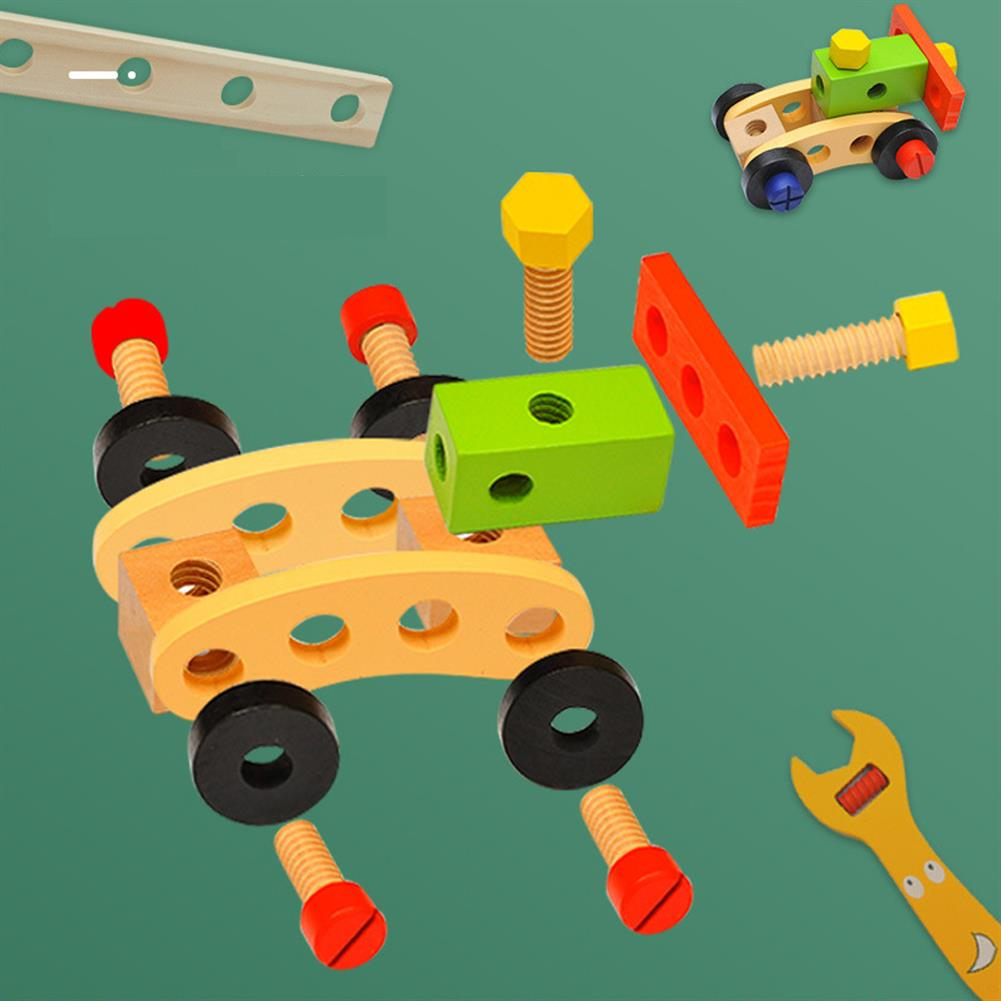 puzzle-game-toys Wooden Simulation DIY Multi-shaped Nut Combo Set Boy Repair Kit Early Childhood Education Puzzle Toy HOB1804046 1