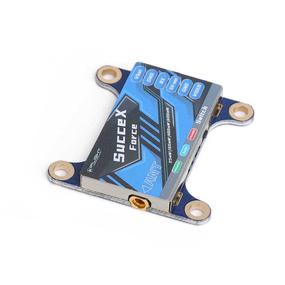 fpv-system iFlight SucceX-force 5.8GHz 48CH PIT/25mW/100mW/400mW/600mW Switchable FPV VTX Video Transmitter Support OSD IRC Tramp for RC Drone HOB1804310