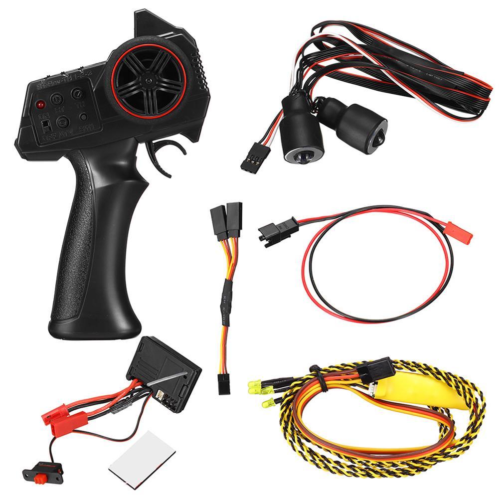 rc-car-parts WPL D12 RC Car LED Light Transmitter Receiver ESC Vehicle Models Parts HOB1807049