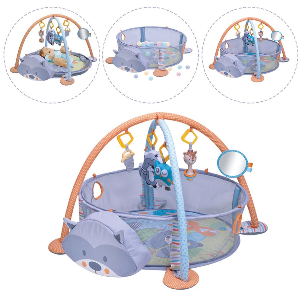 baby-rattles-mobiles 3 in 1 infant Play Mat Round Cartoon Kids Activity Mat Gym Folding infant for Crawling Blanket infant Game Pad Play Rug HOB1807822