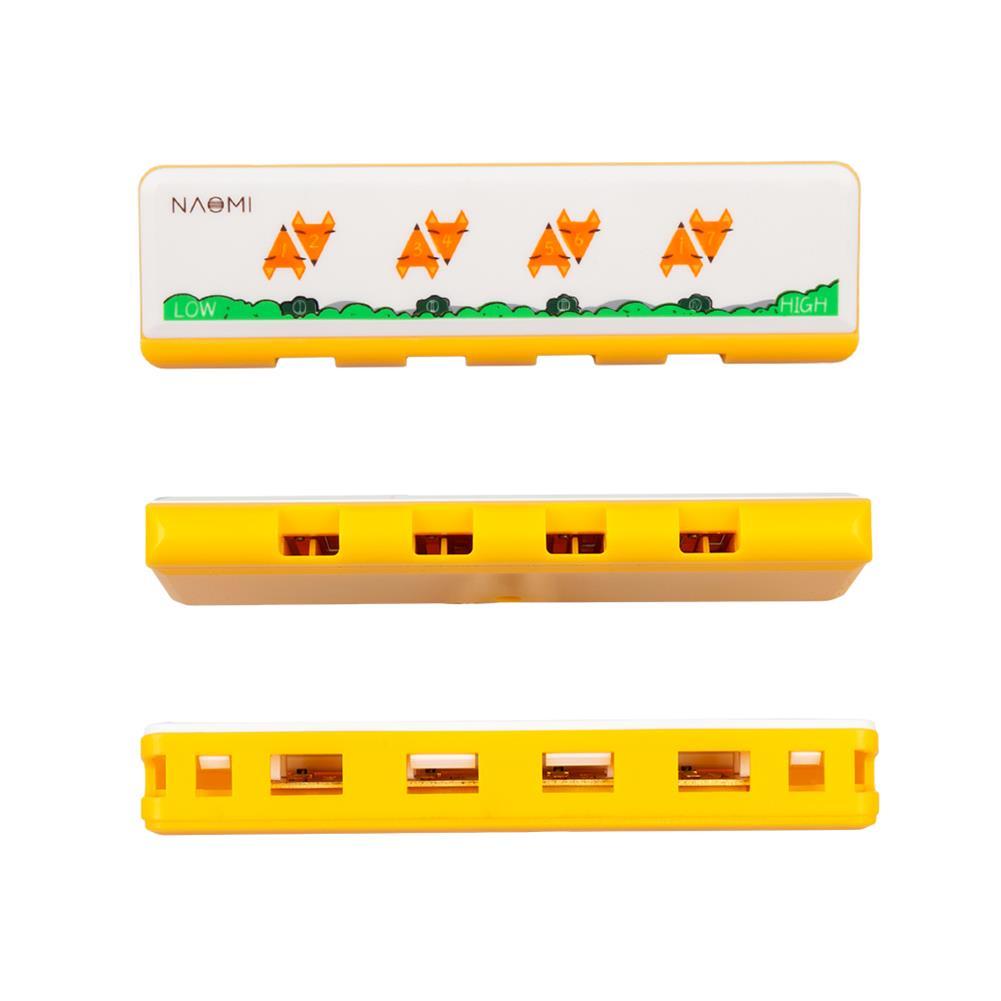 harmonica NAOMI 4 Hole Harmonica Key of C Children Christmas Gift for Beginners HOB1808427 1