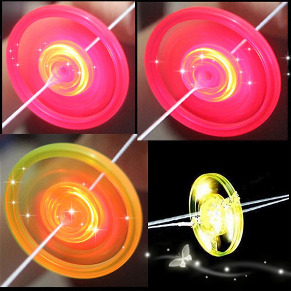 yoyo-gyro-toys Pull String Flashing Flywheel Flashing Top Childhood Classic Toy for Kids And Adluts HOB1809400