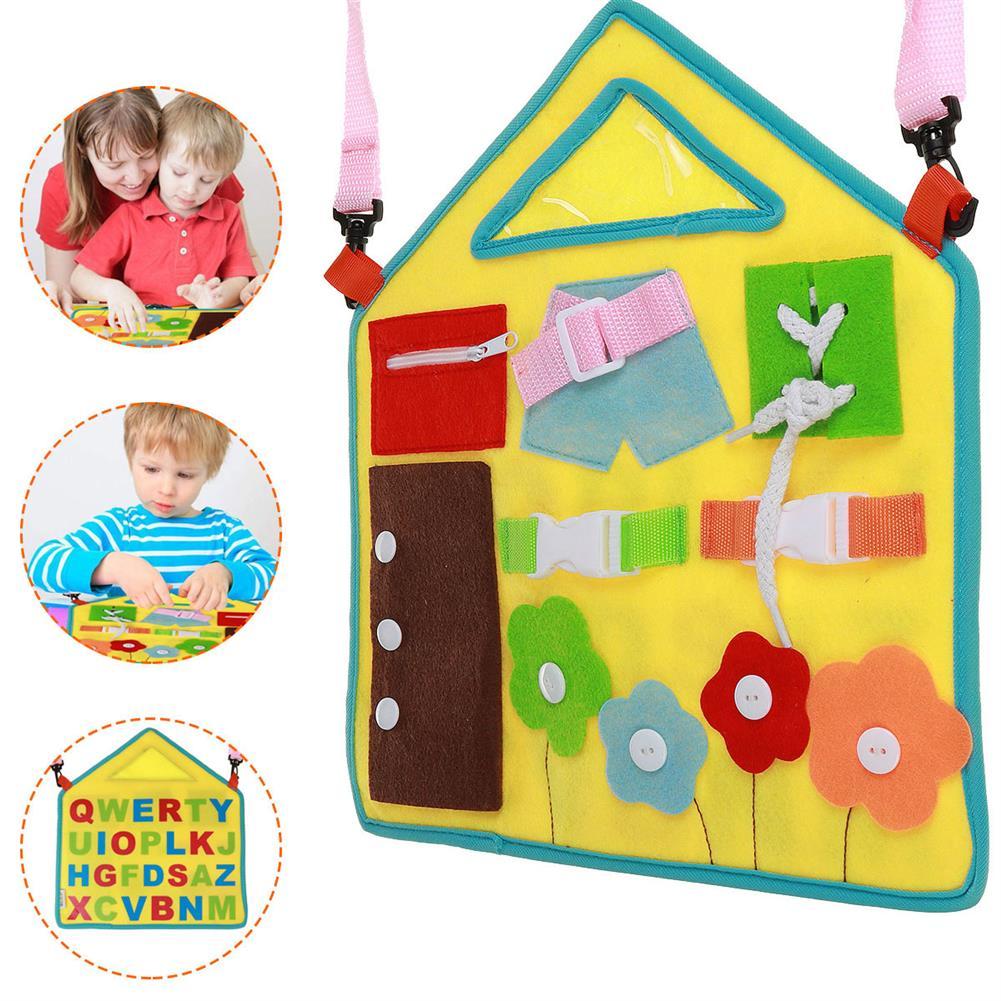 sorting, nesting-stacking-toys Baby Early Education Apron Preschool Education Felt Board Toy Training Child Finger Flexibility for Kid Birthday Gift HOB1809545