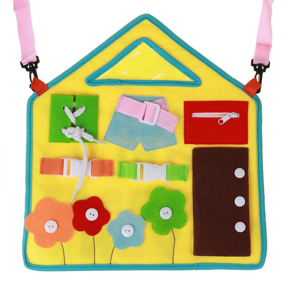 sorting, nesting-stacking-toys Baby Early Education Apron Preschool Education Felt Board Toy Training Child Finger Flexibility for Kid Birthday Gift HOB1809545 1