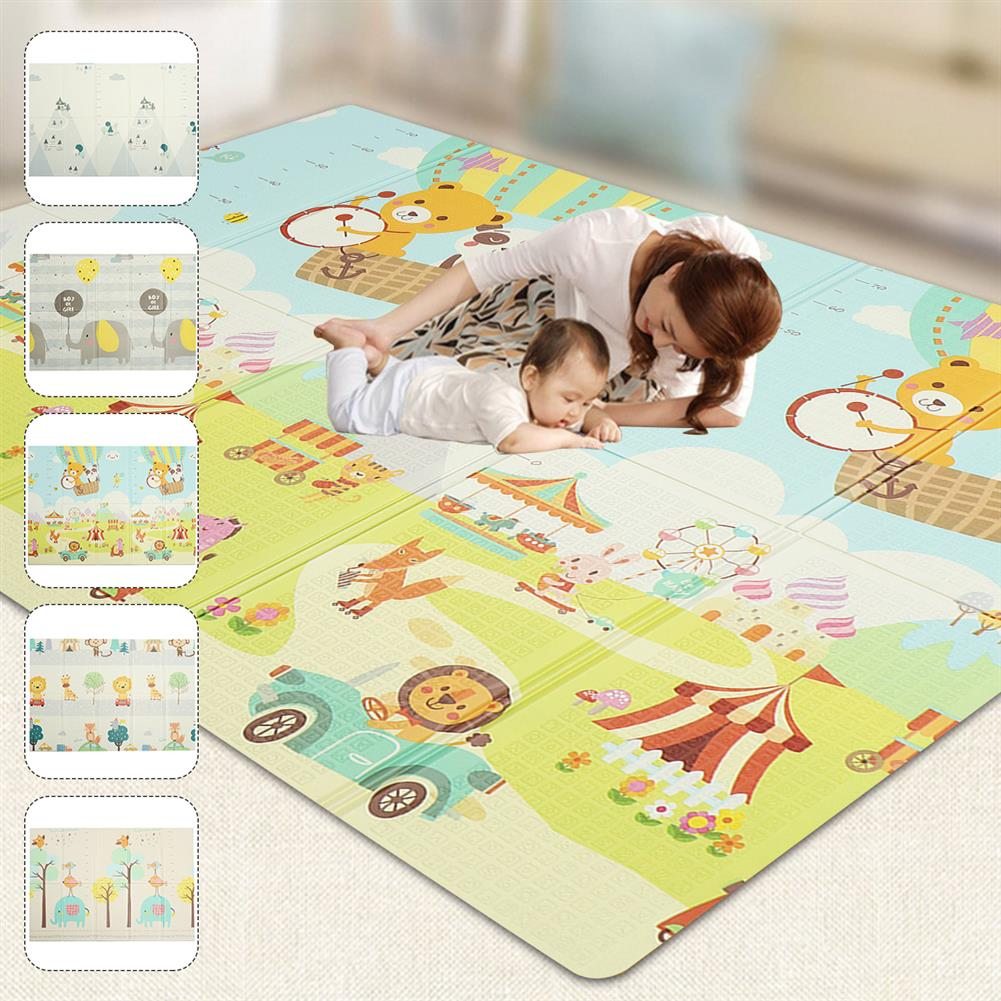 play-mats 200x180cm Foldable Cartoon Baby Play Mat Xpe Puzzle Children's Mat Baby Climbing Pad Kids Rug Baby Games Mats Toys for Children HOB1809579