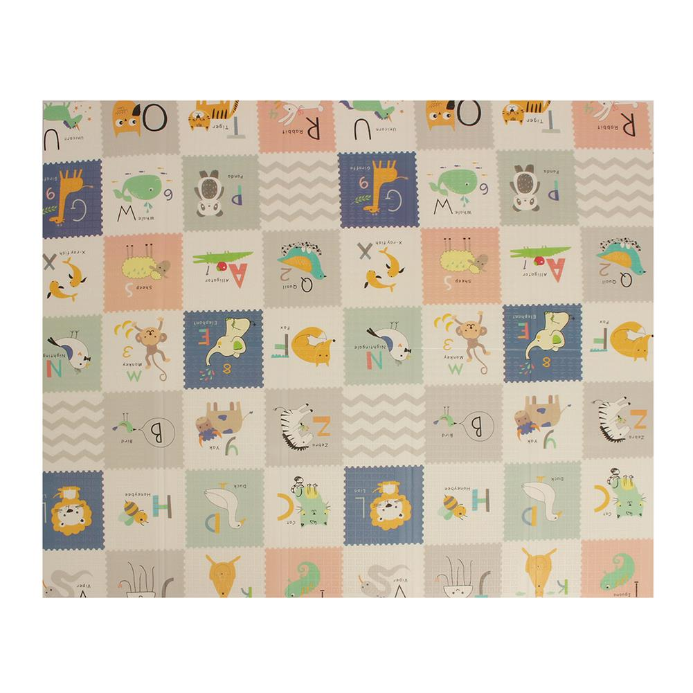 play-mats 200x180cm Foldable Cartoon Baby Play Mat Xpe Puzzle Children's Mat Baby Climbing Pad Kids Rug Baby Games Mats Toys for Children HOB1809579 1