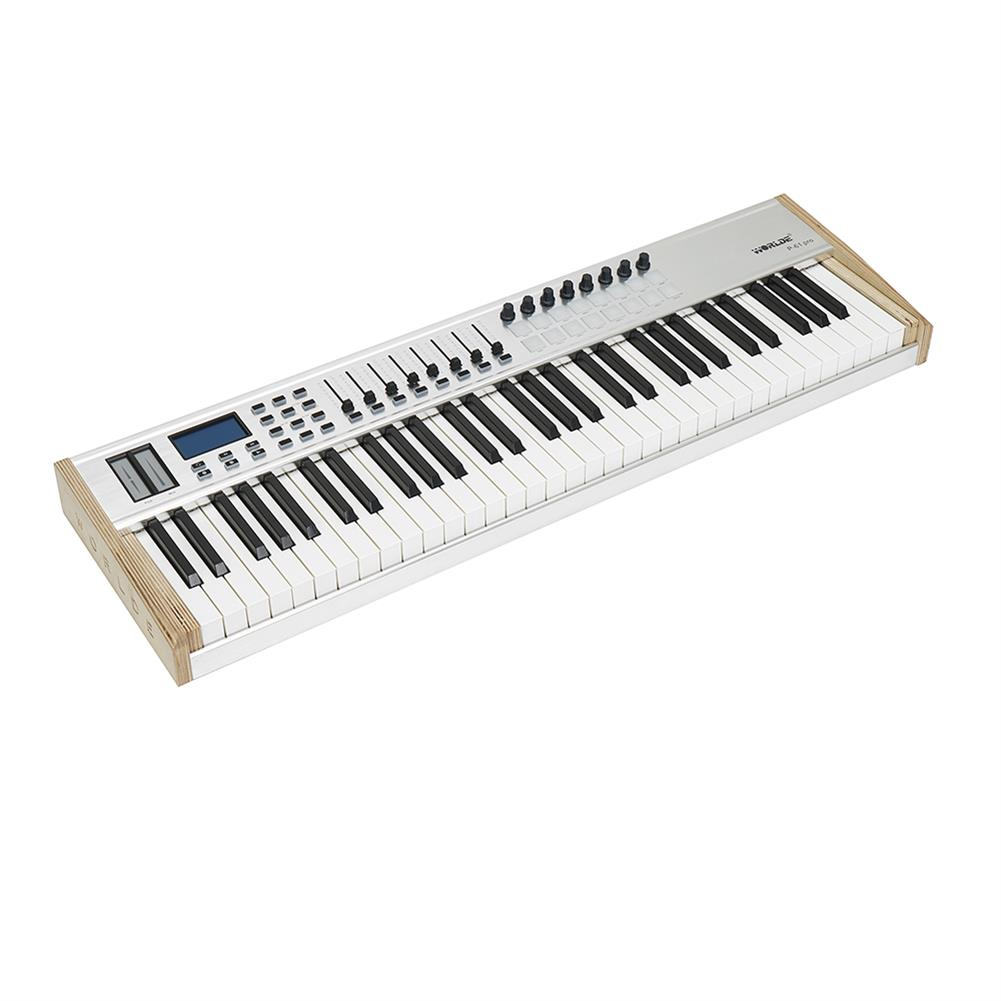 midi-controllers WORLDE P-61 PRO MIDI Keyboard Controller 61-key Semi-weighted Professional MIDI Keyboard MIDI Controller for Music Studio Stage Live Performance HOB1811052 1