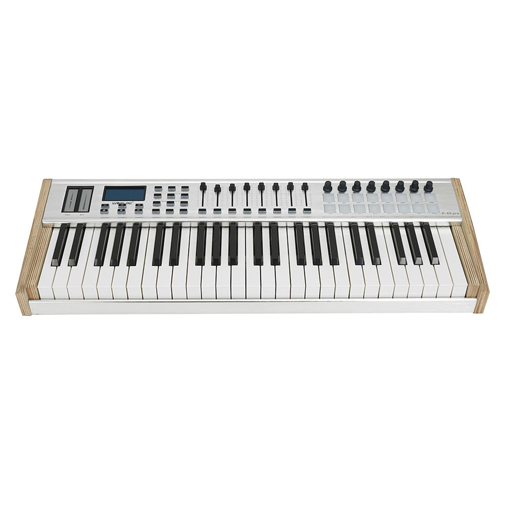 midi-controllers WORLDE P-49 Pro 49-Key USB MIDI Keyboard Controller with 49 Semi-weighted Keys 16 RGB Backlit Trigger Pads 8 Assignable Sliders HOB1811055 1