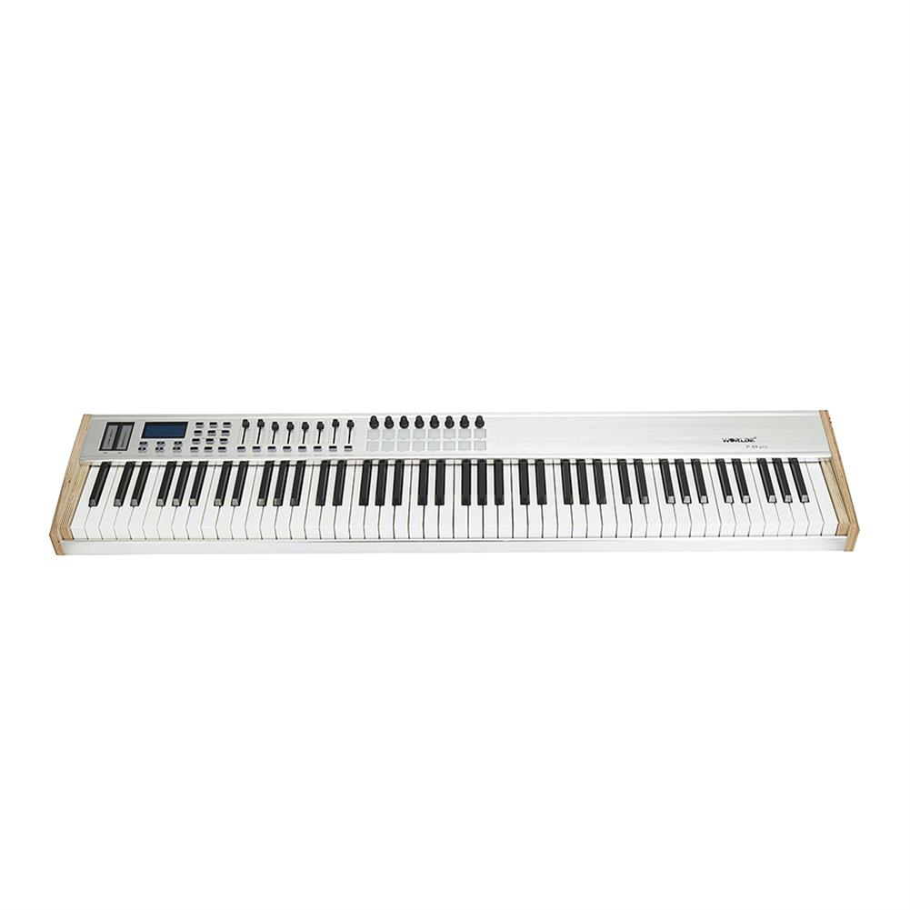 midi-controllers WORLDE P-88 Pro 88-Key USB MIDI Keyboard Controller with 88 Semi-weighted Keys 16 RGB Backlit Trigger Pads 8 Assignable Sliders HOB1811060
