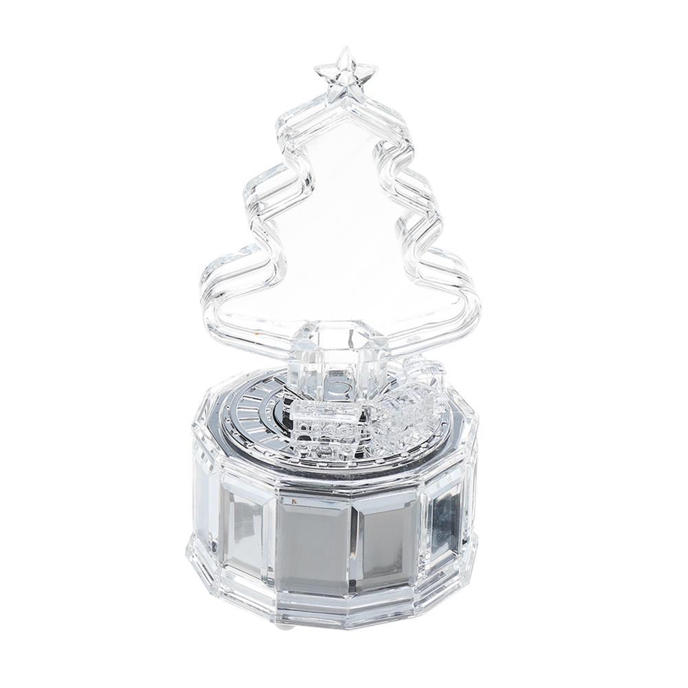 music-box Christmas Tree Music Box with Lights Acrylic Crystal Texture Music Box Christmas Gifts Birthday Gifts HOB1811066